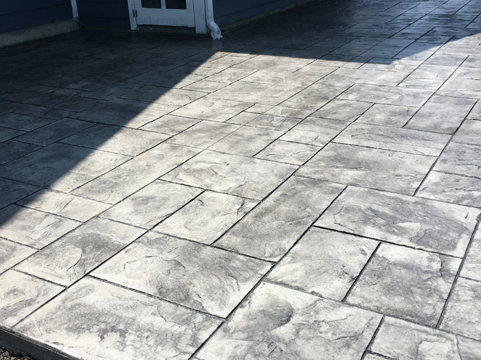 Majestic Ashlar Slate Stamp Deep Charcoal Release And Base Gray